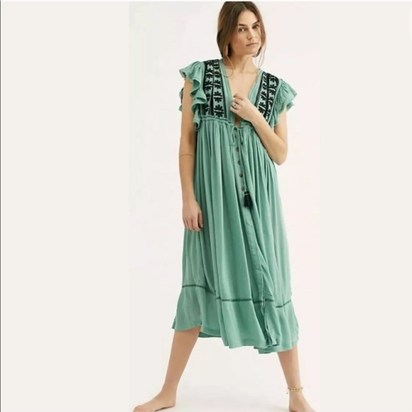 Free People Dresses & Skirts - Free People Bali Will Wait For You Midi Dress Sz L